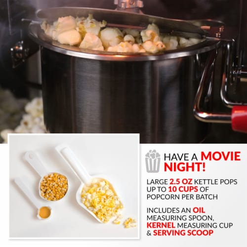Nostalgia Popcorn Cart - Red / White Perspective: bottom