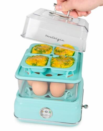 Nostalgia Classic Retro Egg Cooker - Aqua Perspective: bottom