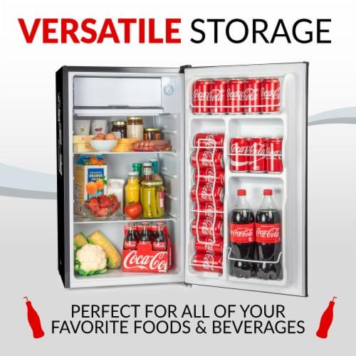 Coca-Cola Refrigerator with Freezer - Black Perspective: bottom