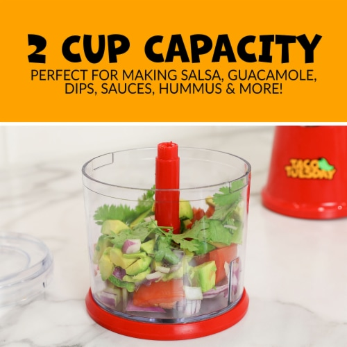 Taco Tuesday Salsa & Guacamole Chopper - Red/Clear Perspective: bottom