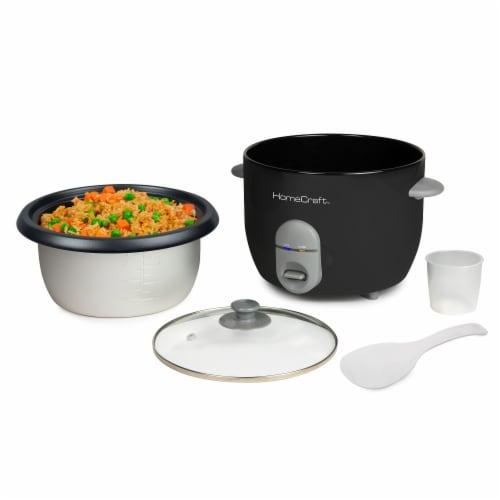 HomeCraft Rice Cooker & Food Steamer - Black Perspective: bottom