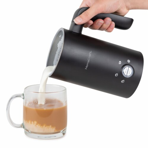 HomeCraft 4-in-1 Electric Automatic Milk Frother - Black Perspective: bottom