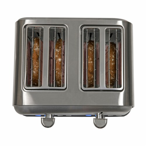 HomeCraft Stainless Steel 4-Slice Toaster - Silver Perspective: bottom