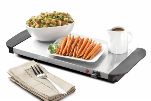 HomeCraft 3-Station Stainless Steel Buffet Server & Warming Tray Perspective: bottom