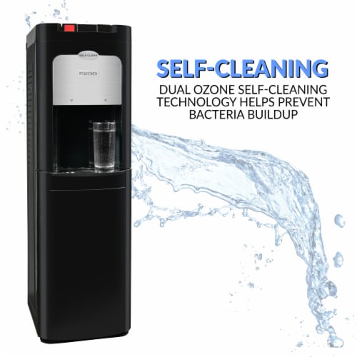 Igloo Hot & Cold Water Bottom Loading Self-Cleaning Water Dispenser - Black Perspective: bottom