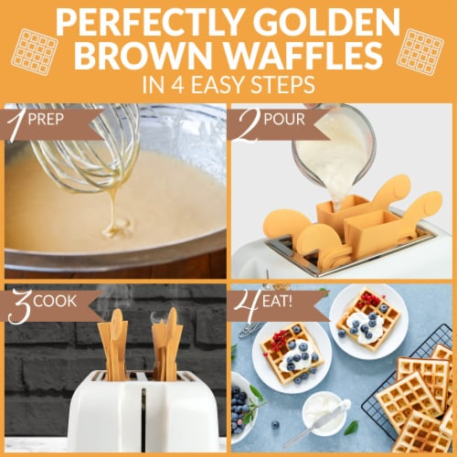Nostalgia Vertical Waffle Toaster Perspective: bottom