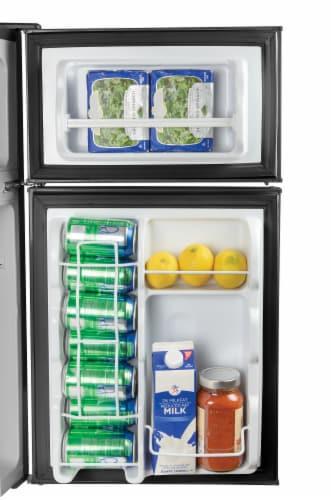 Igloo Double Door Refrigerator With Freezer - Black Perspective: bottom