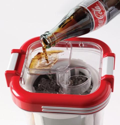 Nostalgia Coca-Cola Retro Slush Drink Maker Perspective: bottom
