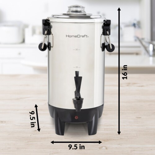HomeCraft Quick-Brewing Automatic Stainless Steel Coffee Urn Perspective: bottom