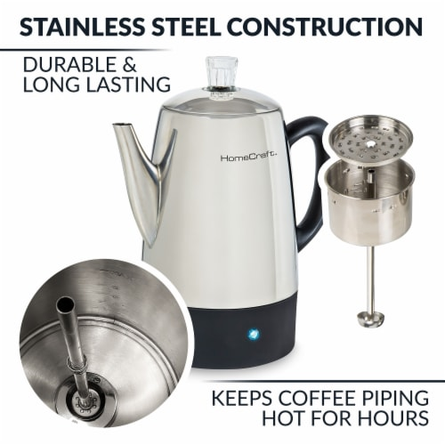 HomeCraft Stainless Steel Coffee Percolator Perspective: bottom