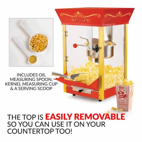 Nostalgia Vintage Professional Popcorn Cart Perspective: bottom