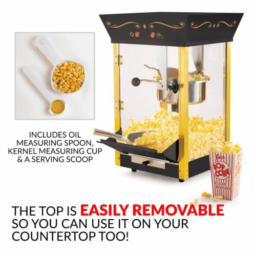 Nostalgia Vintage Commercial Popcorn Cart Perspective: bottom