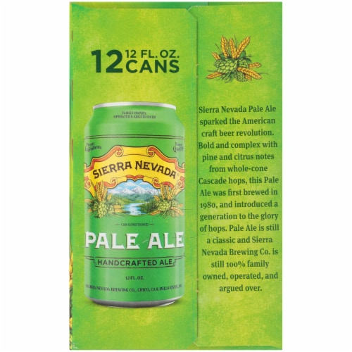 Sierra Nevada Brewing Co. Pale Ale Beer Perspective: bottom