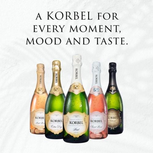 Korbel Brut California Champagne Perspective: bottom