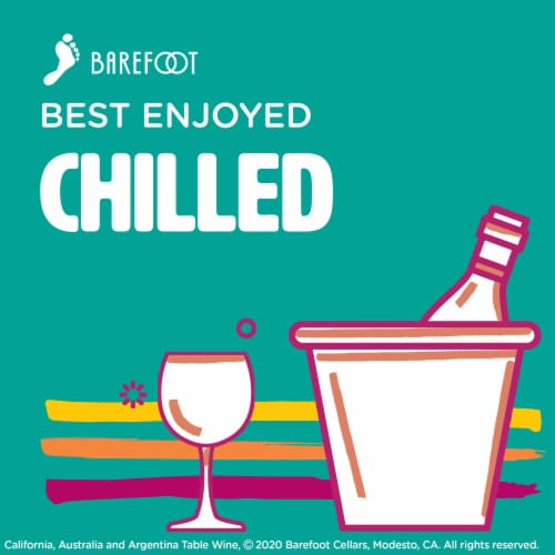 Barefoot Moscato White Wine Perspective: bottom