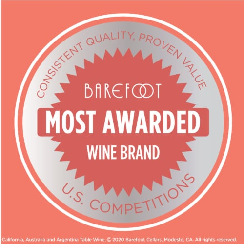 Barefoot Pink Moscato Blush Wine Perspective: bottom