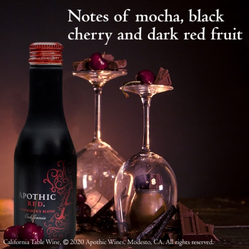 Apothic Red Blend Red Wine 2 pack of 250ml Aluminum Bottles Perspective: bottom