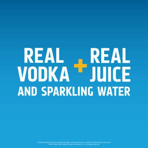 High Noon Pineapple Vodka Hard Seltzer 4 Single Serve 355ml Cans Perspective: bottom