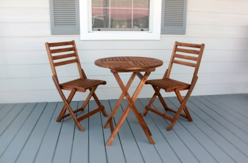 Leigh Country Sequoia Bistro Set - Brown Perspective: bottom