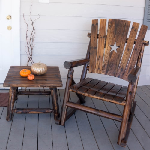 Leigh Country Char-Log Single Rocker with Star Cutout Perspective: bottom