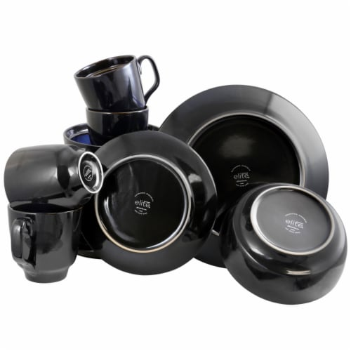 Gibson Elite Bella Galleria 16 Piece Dinnerware Set with Plates, Bowls, and Mugs Perspective: bottom
