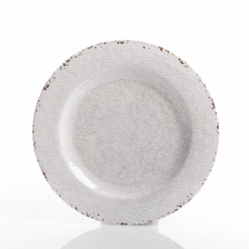 Gibson Studio California Mauna 12-Piece Durable Melamine Dinnerware Set, Ice Perspective: bottom