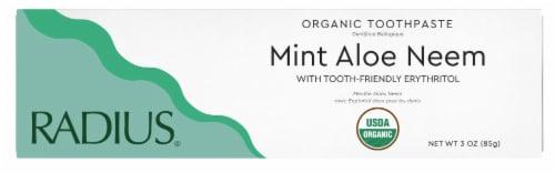 Radius® Whitening Mint Aloe Neem Toothpaste Perspective: bottom