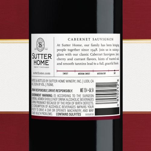 Sutter Home® Cabernet Sauvignon Red Wine 750mL Wine Bottle Perspective: bottom