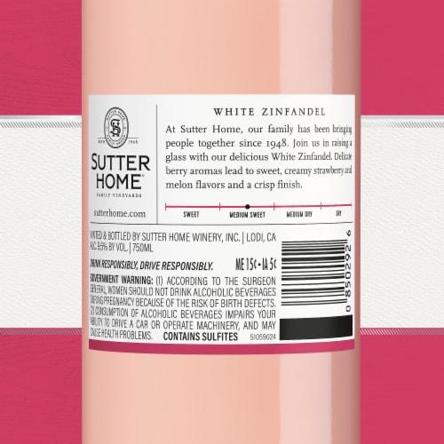 Sutter Home® White Zinfandel Rose Wine 750mL Wine Bottle Perspective: bottom