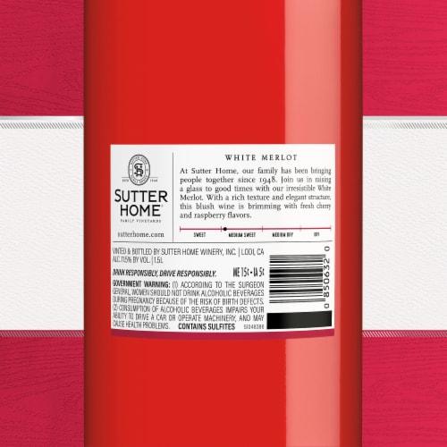 Sutter Home® White Merlot Blush Wine Perspective: bottom