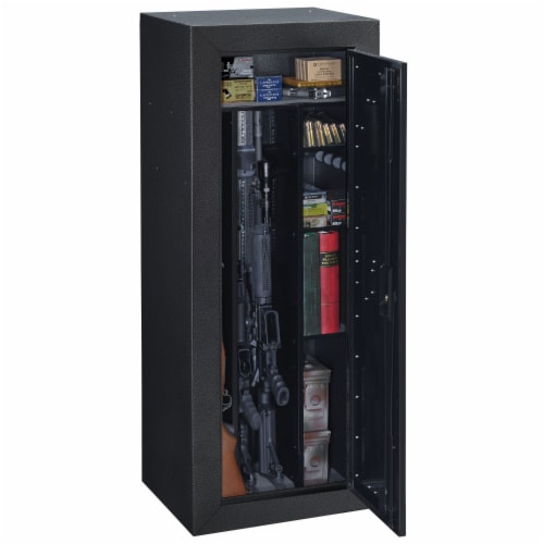 Stack-On Steel 16 Tactical Firearm Compact Security Cabinet Locker Gun Safe Perspective: bottom