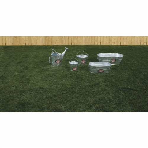 Behrens 2 gal. Steel Tub Oval - Case Of: 1; Perspective: bottom