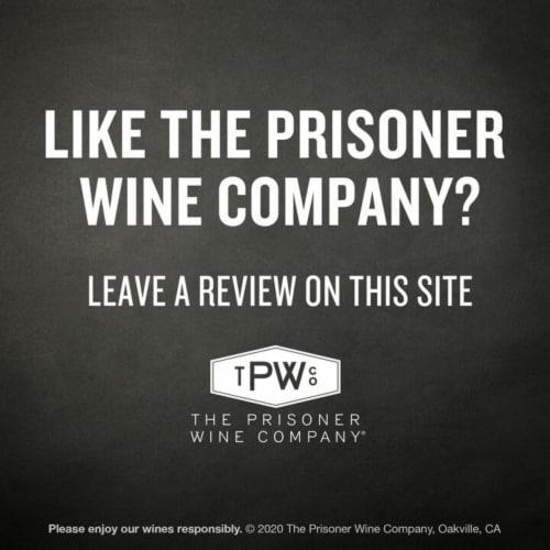 The Prisoner Wine Co. Red Blend Perspective: bottom