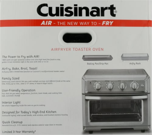 Cuisinart Air Fryer Toaster Oven - Silver Perspective: bottom