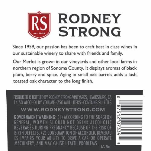 Rodney Strong Merlot Red Wine Perspective: bottom
