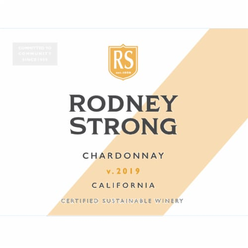 Rodney Strong Chardonnay White Wine Perspective: bottom