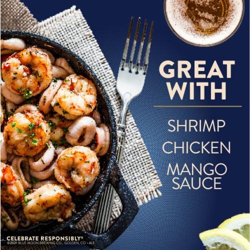 Blue Moon® Mango Wheat Beer Perspective: bottom