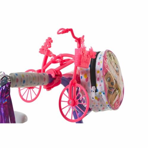 Dynacraft Kid's 12 Inch Beginner BMX Street Bike with Training Wheels, Barbie Perspective: bottom