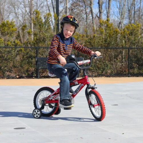 Dynacraft Hot Wheels® Beginner BMX Bike - Red/Black Perspective: bottom