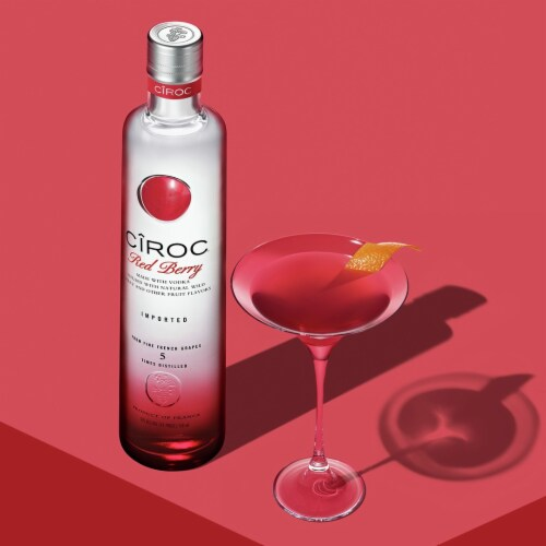 CIROC Natural Flavor Infused Red Berry Vodka Perspective: bottom