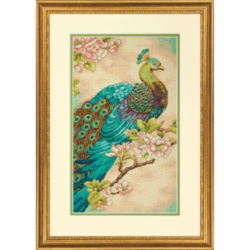Dimensions® Indian Peacock Counted Cross Stitch Kit Perspective: bottom