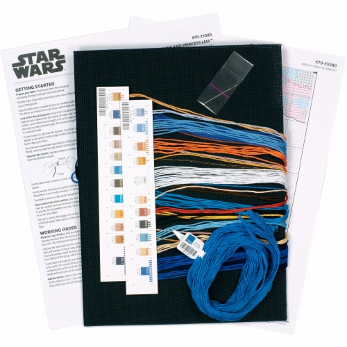 Dimensions® Star Wars Luke and Princess Leia Counted Cross Stitch Kit Perspective: bottom