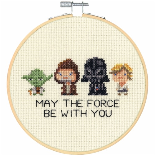 Dimensions® Star Wars™ Family Counted Cross Stitch Kit Perspective: bottom