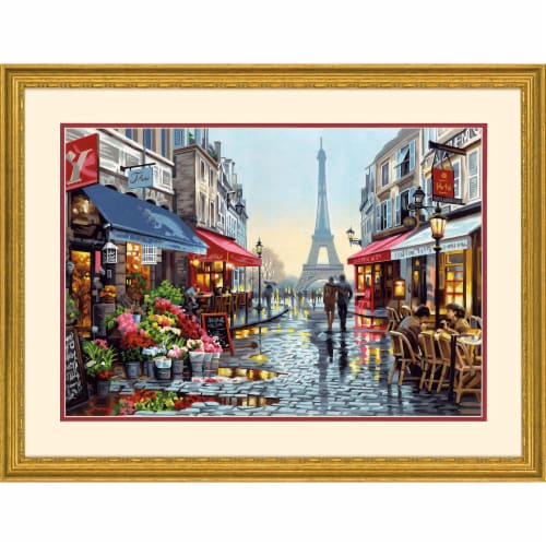Dimensions® PaintWorks™ Paris Flower Shop Paint by Number Kit Perspective: bottom