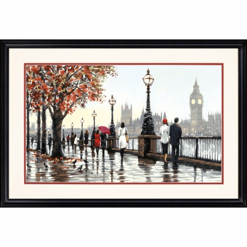 Dimensions® PaintWorks™ Thames View Paint by Number Kit Perspective: bottom