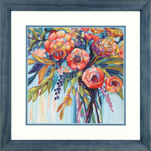 Dimensions® PaintWorks™ Floral Celebration Paint by Number Kit Perspective: bottom