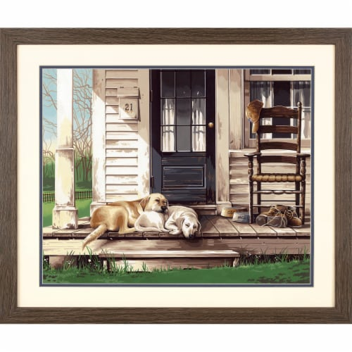 Dimensions® PaintWorks™ Lazy Dog Day Paint by Number Kit Perspective: bottom