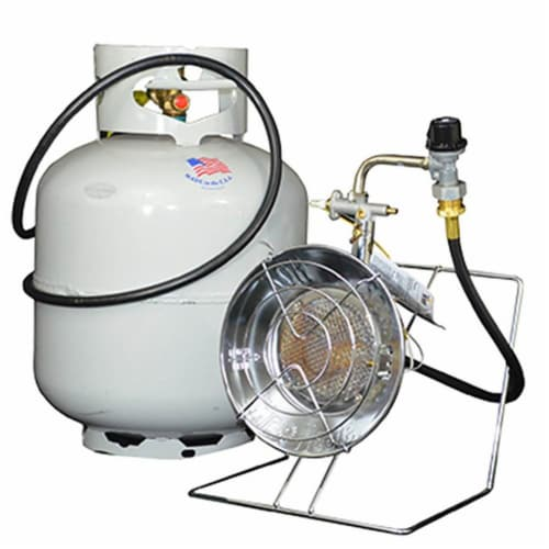 Mr. Heater MH-F242300 15,000 BTU Propane Gas Tank Top Outdoor Heater and Cooker Perspective: bottom