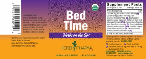 Herb Pharm Herbs on the Go Bed Time Herbal Supplement Perspective: bottom