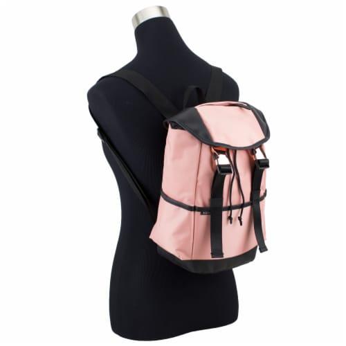 Bodhi Stella Fashion Drawstring Flap Backpack - Blush Perspective: bottom
